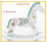 "the best gift for children-wooden rocking horse with fantasy decor ""Minty milk"""